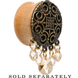 "Handcrafted 7/8"" Sandy Saddle Plug Created with Swarovski Crystals"