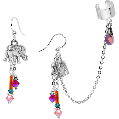 94d3c30de Handcrafted Ear Cuff Chain Earrings Made with Swarovski Crystals ...
