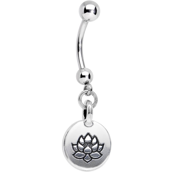 Handcrafted Global Spirit Lotus Flower Dangle Belly Ring