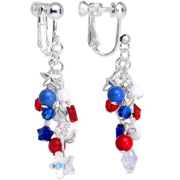 Handcrafted Freedom Dangle Earrings Created with Swarovski Crystals