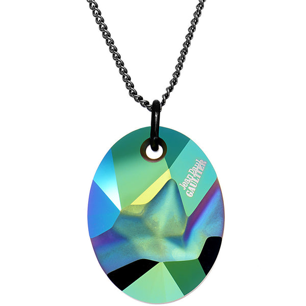 Scarabaeus Green Kaputt Oval Pendant Designed by Jean Paul Gaultier