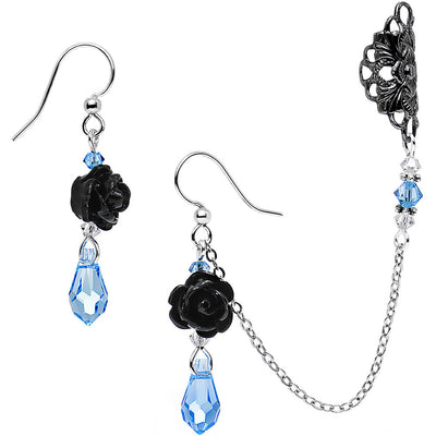 9ecb5e32c Blue Black Rose Earring Chain Cuff Set Created with Sw... $31.99 $11.99.  Add to Cart added. Handmade Sea Coral Fishhook Earrings Created with  Swarovski ...