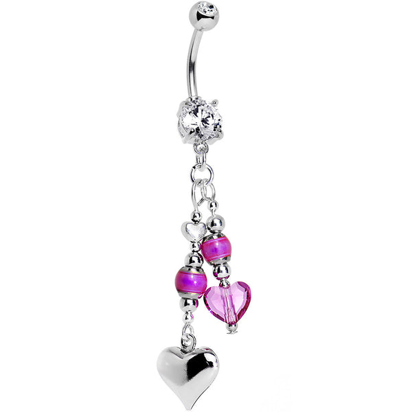 Handcrafted Passion Beads Belly Ring Created with Swarovski Crystals
