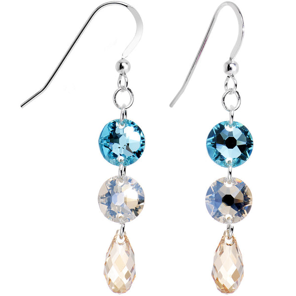 925 Silver Champagne Skies Earrings Created with Swarovski Crystals