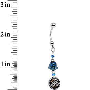 Bodhi Buddha Dangle Belly Ring Created with Swarovski Crystals