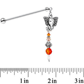 Dream of India Industrial Barbell Created with Swarovski Crystals 32mm