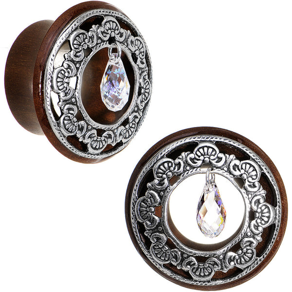 7/8 Clear Rosewood Trumpet Plug Set Created with Swarovski Crystals