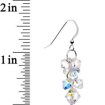 925 Silver Aurora Cascade Earrings Created with Swarovski Crystals