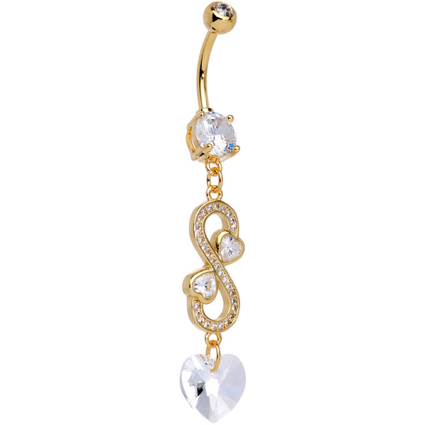 Silver Flower Design Belly Button Ring with CZ Crystal Packed in a Lovely Velvet Pouch