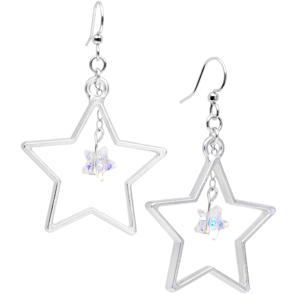 Handcrafted Big Star Dangle Earrings Created with Swarovski Crystals –  BodyCandy c14d874877