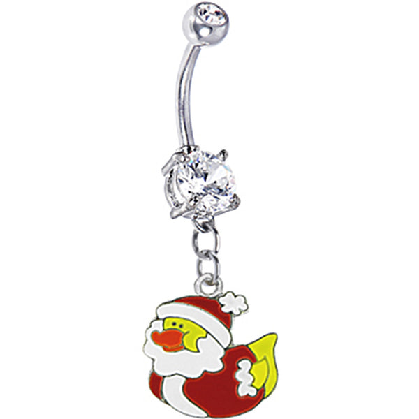 Rubber Duck as Santa Claus Belly Ring