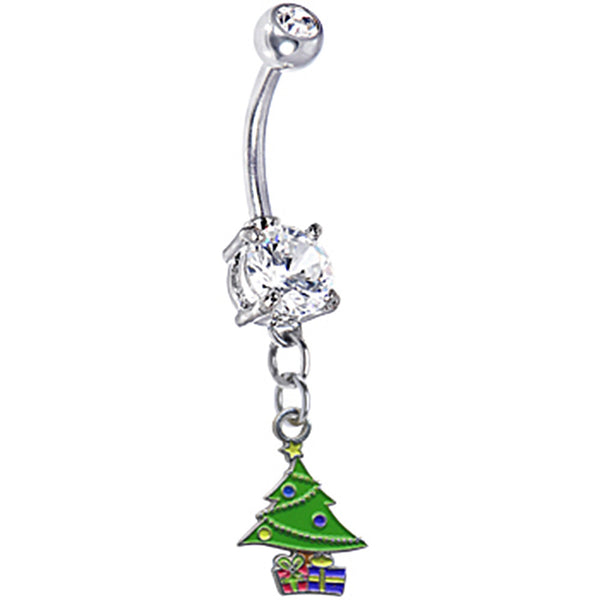 Christmas Tree with Presents Belly Ring