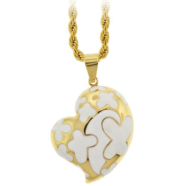 Inox Jewelry Women's Gold Tone Sweetheart Dangling Pendant
