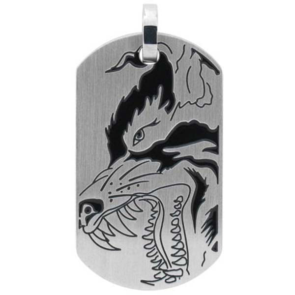Inox Jewelry Mighty Wolf Ultima Dog Tag Pendant