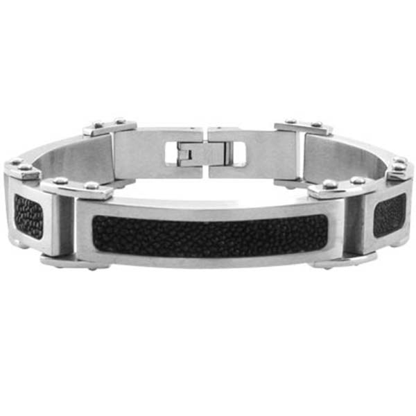 8.5 Inches - Inox Jewelry Sting Ray 316L Stainless Steel Bracelet