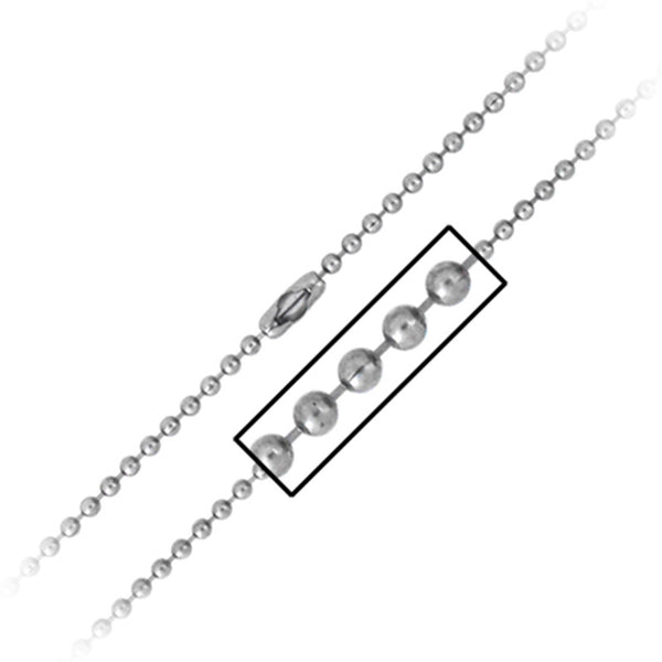 30 Inches - Inox Jewelry Ball Chain 316L Stainless Steel Necklace