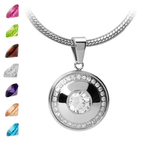 Inox Jewelry Women's Interchangeable Gem 316L Stainless Steel Pendant