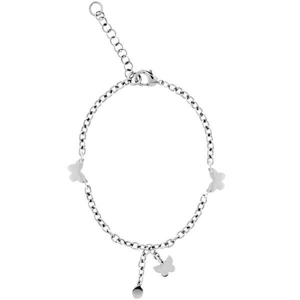 INOX Jewelry 316L Stainless Steel Butterfly Ankle Bracelet