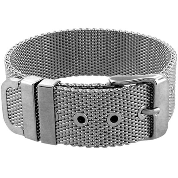 INOX Jewelry 316L Stainless Steel Mesh Belt Bracelet