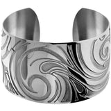 INOX Jewelry 316L Stainless Steel Waves Cuff Bracelet