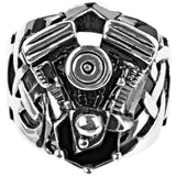 INOX Jewelry 316L Stainless Steel Engine Ring