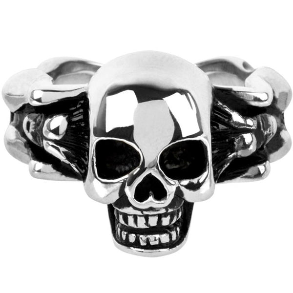 INOX Jewelry 316L Stainless Steel Skull Body Ring