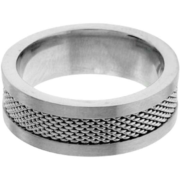 INOX Jewelry 316L Stainless Steel Mesh Ring