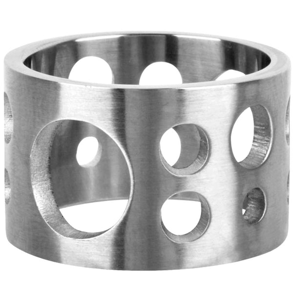 INOX Jewelry 316L Stainless Steel Cut Out Hole Ring