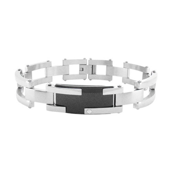Inox Jewelry Men's Stainless Steel Contemporary Bracelet