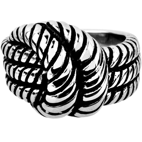 INOX Jewelry 316L Stainless Steel Knot Ring