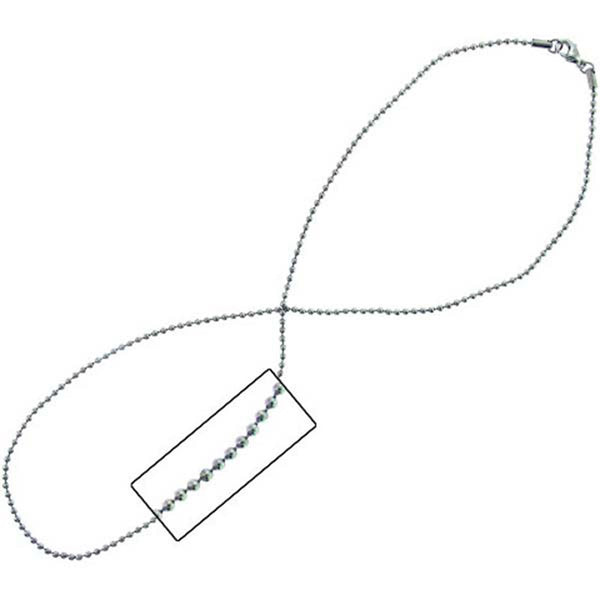 INOX Jewelry 316L Stainless Steel 2mm Bead Chain Necklace
