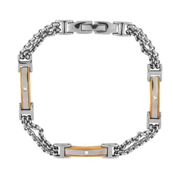 Inox Jewelry Women's Stainless Steel and IP Gold Bracelet
