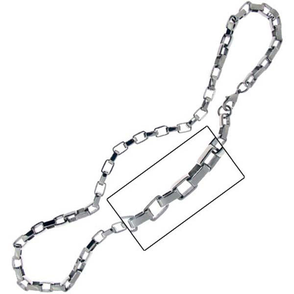 21 Inches - INOX Jewelry 316L Stainless Steel Flat Curb 10mm Chain Necklace