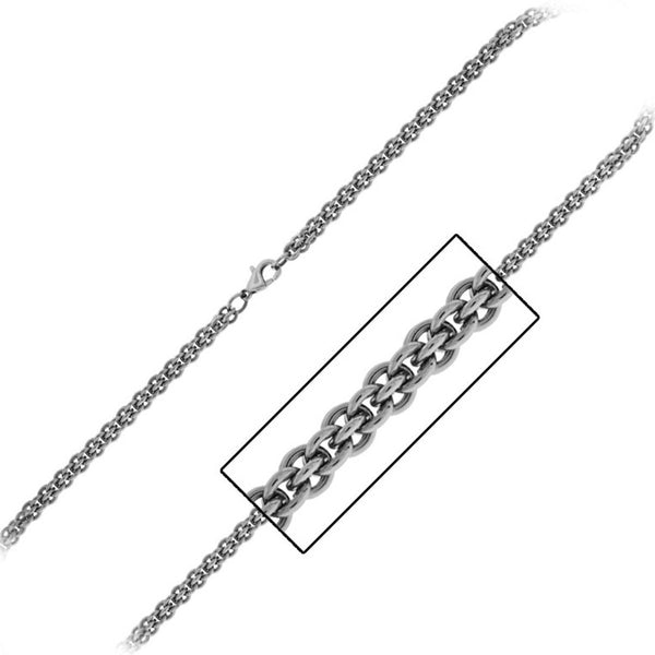 INOX Jewelry 316L Stainless Steel 4.4mm Multi Cable Chain Necklace