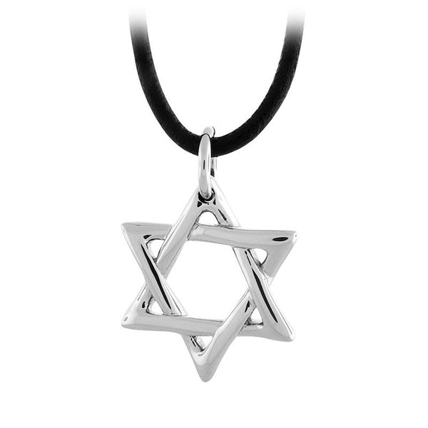 Inox Jewelry Men's Stainless Steel Star of David Necklace