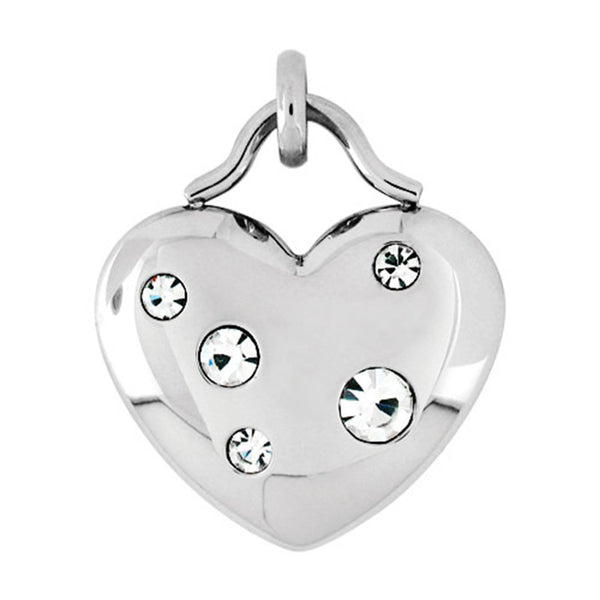 Inox Jewelry Women's Stainless Steel CZ Heart Necklace