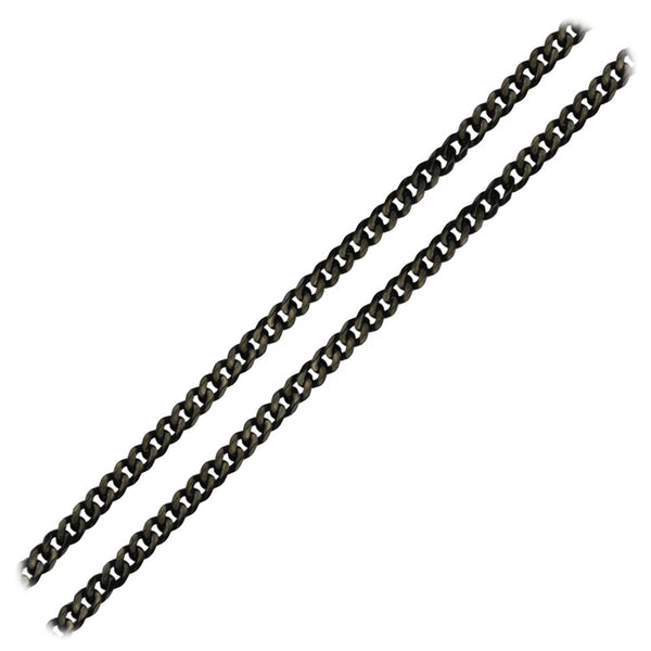Inox Jewelry Stainless Steel 4.8mm Black IP Curb Chain