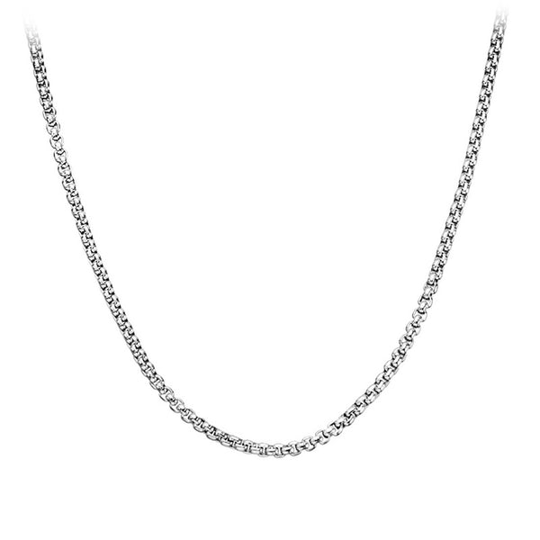 Inox Jewelry Men's Stainless Steel 3.8mm Box Chain