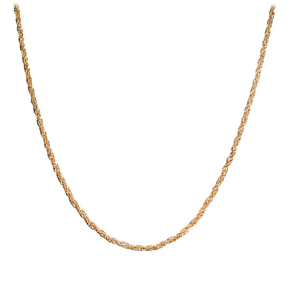 Inox Jewelry Stainless Steel 2.5mm Gold PVD Liana Chain