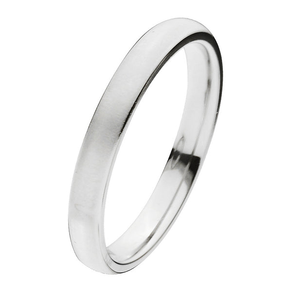 Inox Jewelry Men's Titanium 3mm Matte Band Ring