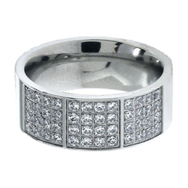 Inox Jewelry 316L Stainless Steel Bling Ring