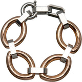 Inox 316L Stainless Steel Rose Gold Oval Link Bracelet