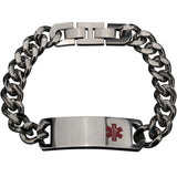 Inox 316L Stainless Steel Medical ID Curb Chain Bracelet