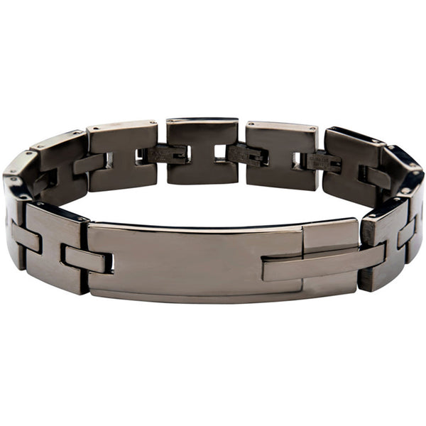 Classic link bracelet in polished stainless steel