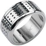 Inox 316L Stainless Steel Spotty Spinner Ring