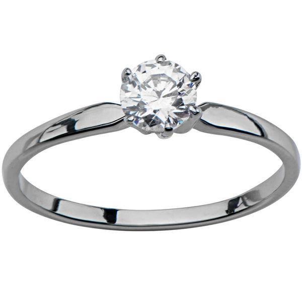 Inox 316L Stainless Steel Engagement CZ Solitaire