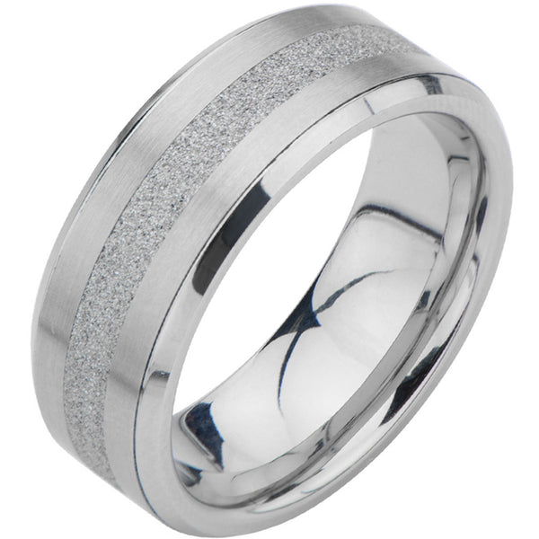 Inox 316L Steel Stand Stripe Wedding Band