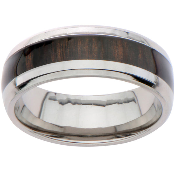 Inox Titanium Dark Timber Ring For Men
