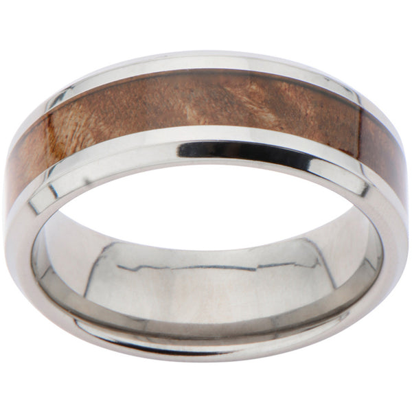 Inox Titanium Light Timber Ring For Men