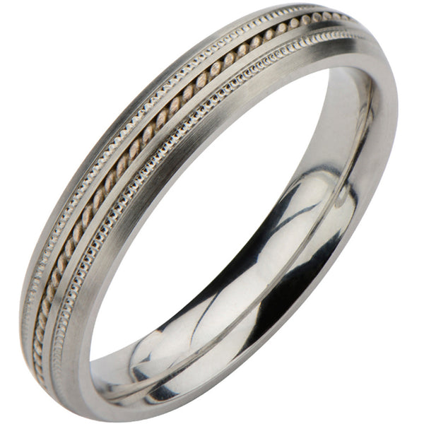 Inox 316L Women's Textured Lanyard Wedding Band